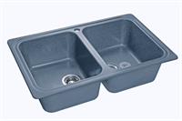 Мойка для кухни GranFest STANDART S-780 K  (S-780 K  графит) 500x786