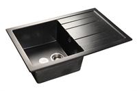 Мойка для кухни GranFest QUADRO Q-780 L  (Q-780 L  черный) 495x770