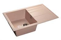 Мойка для кухни GranFest QUADRO Q-780 L  (Q-780 L  светло-розовый) 495x770