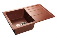 Мойка для кухни GranFest QUADRO Q-780 L  (Q-780 L  красный марс) 495x770