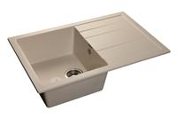 Мойка для кухни GranFest QUADRO Q-780 L  (Q-780 L  белый) 495x770