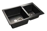 Мойка для кухни GranFest PRACTIK P-780 K  (P-780 K  черный) 506x775