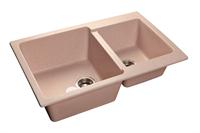 Мойка для кухни GranFest PRACTIK P-780 K  (P-780 K  светло-розовый) 506x775