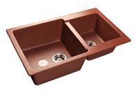Мойка для кухни GranFest PRACTIK P-780 K  (P-780 K  красный марс) 506x775