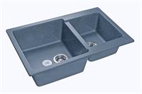 Мойка для кухни GranFest PRACTIK P-780 K  (P-780 K  графит) 506x775