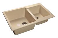 Мойка для кухни GranFest PRACTIK P-780 K  (P-780 K  бежевый) 506x775