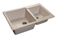 Мойка для кухни GranFest PRACTIK P-780 K  (P-780 K  белый) 506x775