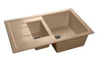 Мойка для кухни GranFest QUADRO Q-775 KL  (Q-775 KL  топаз) 495x765