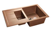 Мойка для кухни GranFest QUADRO Q-775 KL  (Q-775 KL  терракот) 495x765
