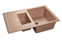Мойка для кухни GranFest QUADRO Q-775 KL  (Q-775 KL  светло-розовый) 495x765