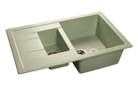 Мойка для кухни GranFest QUADRO Q-775 KL  (Q-775 KL  салатовый) 495x765