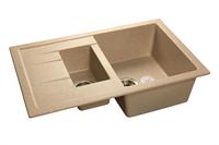 Мойка для кухни GranFest QUADRO Q-775 KL  (Q-775 KL  песок) 495x765