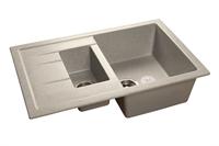 Мойка для кухни GranFest QUADRO Q-775 KL  (Q-775 KL  серый) 495x765