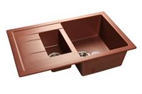 Мойка для кухни GranFest QUADRO Q-775 KL  (Q-775 KL  красный марс) 495x765