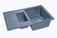 Мойка для кухни GranFest QUADRO Q-775 KL  (Q-775 KL  графит) 495x765