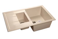 Мойка для кухни GranFest QUADRO Q-775 KL  (Q-775 KL  белый) 495x765