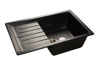 Мойка для кухни GranFest PRACTIK P-760 L  (P-760 L  черный) 495x756