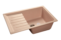 Мойка для кухни GranFest PRACTIK P-760 L  (P-760 L  светло-розовый) 495x756