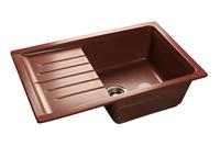Мойка для кухни GranFest PRACTIK P-760 L  (P-760 L  красный марс) 495x756