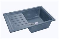 Мойка для кухни GranFest PRACTIK P-760 L  (P-760 L  графит) 495x756