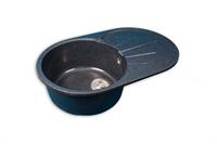 Мойка для кухни GranFest RONDO R-750 L  (R-750 L  черный) 455x746