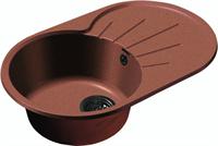 Мойка для кухни GranFest RONDO R-750 L  (R-750 L  терракот) 455x746