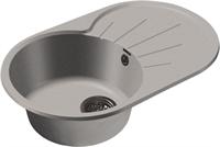 Мойка для кухни GranFest RONDO R-750 L  (R-750 L  серый) 455x746