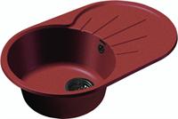 Мойка для кухни GranFest RONDO R-750 L  (R-750 L  красный марс) 455x746