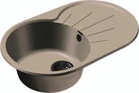 Мойка для кухни GranFest RONDO R-750 L  (R-750 L  бежевый) 455x746