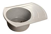 Мойка для кухни GranFest RONDO R-650 L  (R-650 L  серый) 490x645