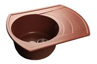 Мойка для кухни GranFest RONDO R-650 L  (R-650 L  красный марс) 490x645