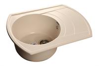 Мойка для кухни GranFest RONDO R-650 L  (R-650 L  белый) 490x645