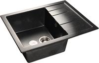 Мойка для кухни GranFest QUADRO Q-650 L  (Q-650 L  черный) 500x650