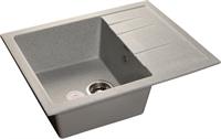 Мойка для кухни GranFest QUADRO Q-650 L  (Q-650 L  серый) 500x650