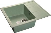 Мойка для кухни GranFest QUADRO Q-650 L  (Q-650 L  салатовый) 500x650