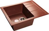Мойка для кухни GranFest QUADRO Q-650 L  (Q-650 L  красный марс) 500x650