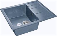 Мойка для кухни GranFest QUADRO Q-650 L  (Q-650 L  графит) 500x650