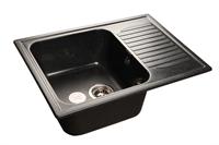 Мойка для кухни GranFest STANDART S-645 L  (S-645 L  черный) 498x645