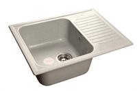 Мойка для кухни GranFest STANDART S-645 L  (S-645 L  серый) 498x645