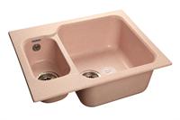 Мойка для кухни GranFest STANDART S-615 K  (S-615 K  светло-розовый) 612x495