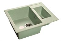 Мойка для кухни GranFest QUADRO Q-610 K  (Q-610 K  салатовый) 610x500