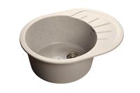 Мойка для кухни GranFest RONDO R-580 L  (R-580 L  серый) 579x445