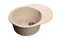Мойка для кухни GranFest RONDO R-580 L  (R-580 L  белый) 579x445