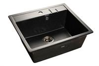Мойка для кухни GranFest QUADRO Q-560  (Q-560  черный) 558x498