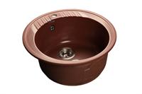 Мойка для кухни GranFest RONDO R-520  (R-520  красный марс) 520x520