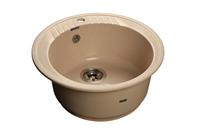 Мойка для кухни GranFest RONDO R-520  (R-520  бежевый) 520x520