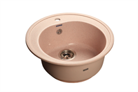Мойка для кухни GranFest RONDO R-510  (R-510  светло-розовый) 508x505