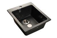 Мойка для кухни GranFest PRAKTIK P-505  (P-505  черный) 427x505