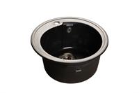 Мойка для кухни GranFest RONDO R-450  (R-450  черный) 443x443