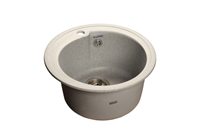 Мойка для кухни GranFest RONDO R-450  (R-450  серый) 443x443
